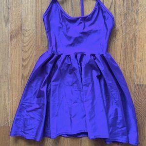 Shiny Purple American Apparel Skater Halter Shirt